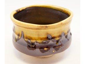 Keramická nádoba na MATCHA čaj zelenkavá (YH6-AN)