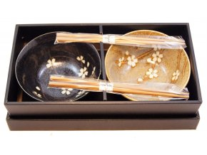 Sada misek pro dva včetně bambusových hůlek ( BH109-AS )