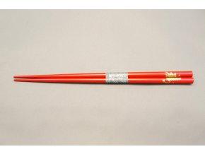Tokyo hůlky červeně lakované se zlatým vzorem ( 8064 )