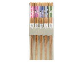 Tokyo set bambusových hůlek s obličeji barevné ( 4028 )