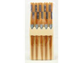 Tokyo set bambusových hůlek s černo bílými vzory ( 8499 )