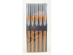 Tokyo set bambusových hůlek s šedě lakovaným koncem ( 14463 )
