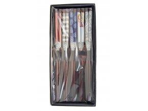 Tokyo set bambusových hůlek v krabičce se vzory  ( 4800 )