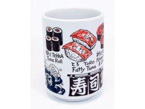 Keramický hrnek na čaj s motivy Sushi