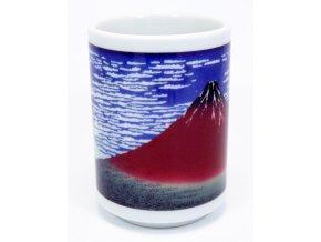Keramický hrnek na čaj s motivy Fuji