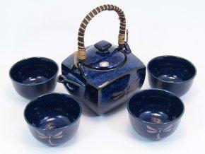 Fuji čajový set (modrý)