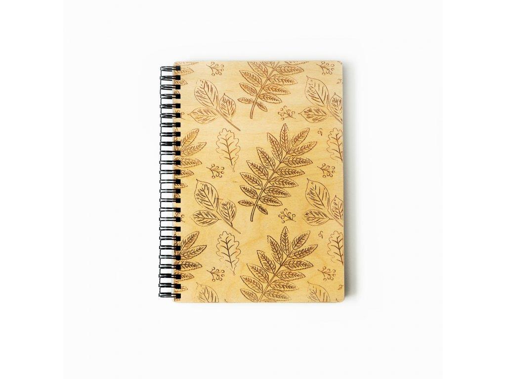 dřevěný zápisník Botanik