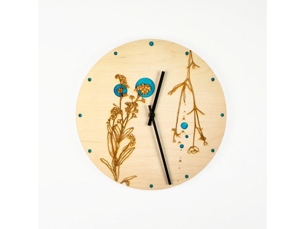 nástěnné hodiny Pomněnka