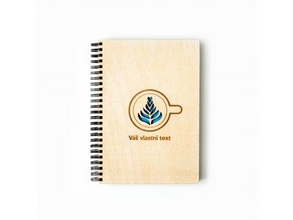 dřevěný zápisník Kavárenský povaleč