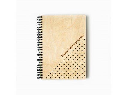 dřevěný zápisník Logik