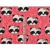 Elastický bio úplet pandy na růžové