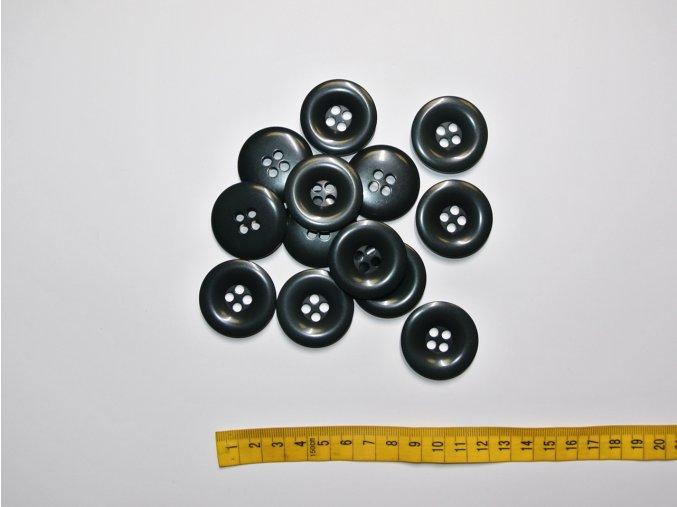 Knoflík tmavě šedý 3,4cm