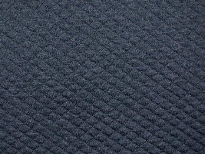 Teplákovina prošívaná - modrý džínový melír - II.jakost (drobná vada)