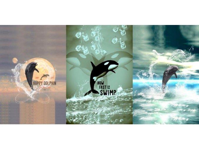 Elastický úplet delfíni (panel)