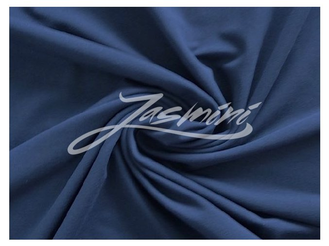 Elastická teplákovina tmavě modrá 240g (zbytek)