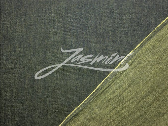 Riflovina lehká letní / košilová - se žlutozeleným nádechem
