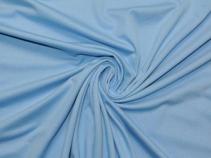 Bavlněný úplet jednolíc světle modrý (vyšší gramáž)