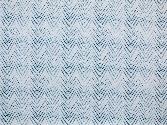 Elastický úplet chevron modrý