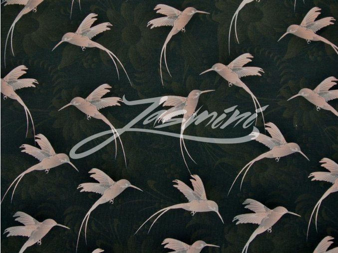 Elastický úplet kolibříci na tmavé