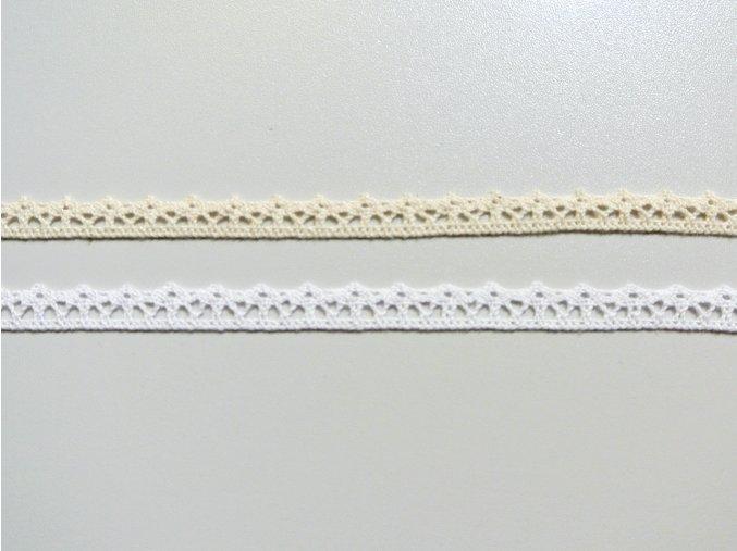 Bavlněná krajka paličkovaná 10mm - se špičkami