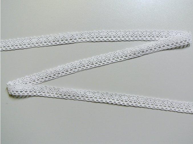 Bavlněná krajka paličkovaná 18mm - bílá