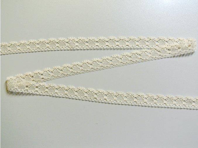 Bavlněná krajka paličkovaná 19mm se srdíčky přírodní