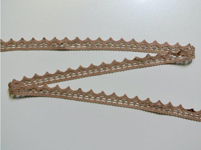Bavlněná krajka paličkovaná 21mm tmavě béžová