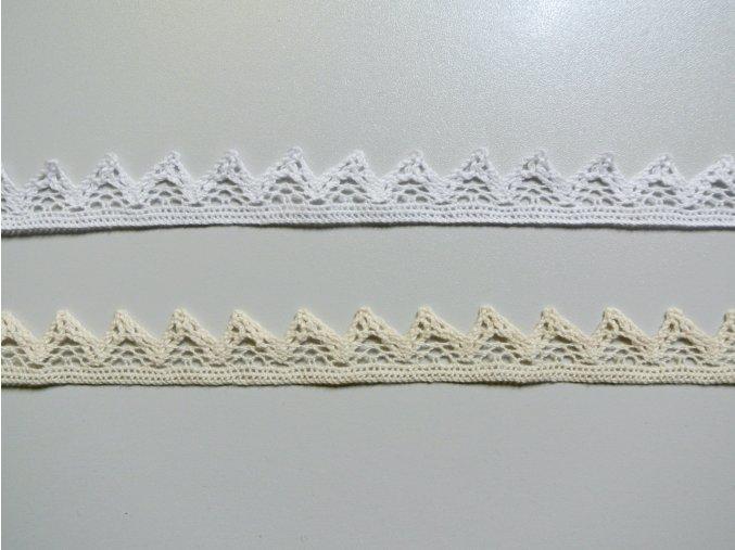 Bavlněná krajka paličkovaná se zoubky 23mm