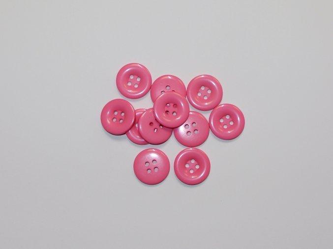 Knoflík středně růžový 2,3cm