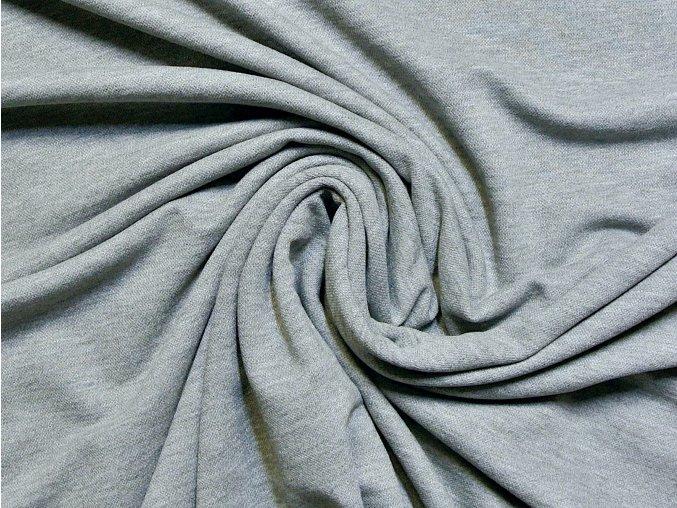 Elastická teplákovina středně šedý melír - vzhled piké 280g