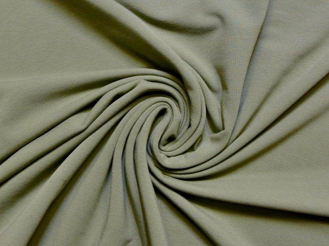 Elastická teplákovina khaki 240g (zbytek S VADOU)