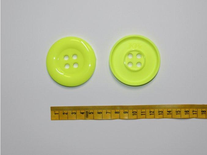 Knoflík neon žlutý 5,8cm
