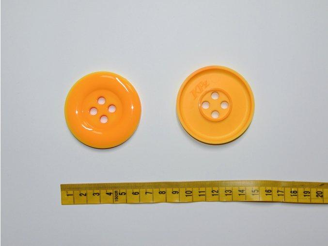 Knoflík oranžovožlutý 5,8cm