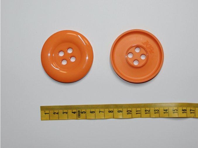 Knoflík oranžový 5,8cm