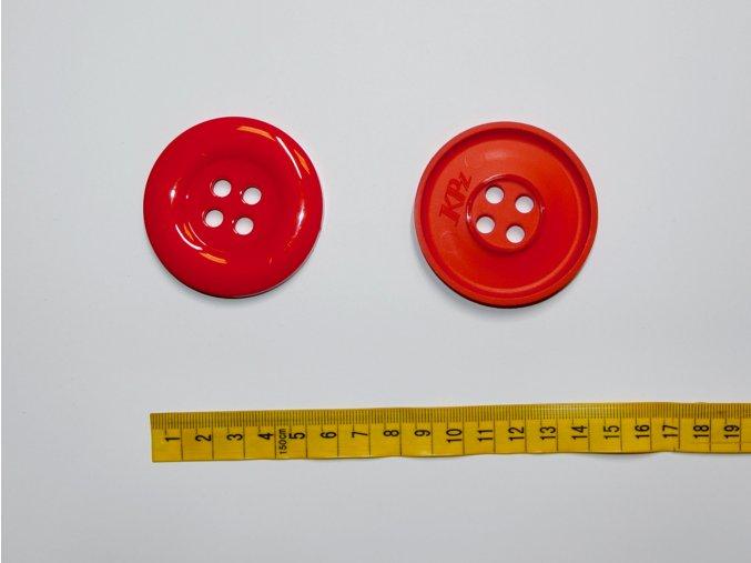 Knoflík velký červený 5,8cm