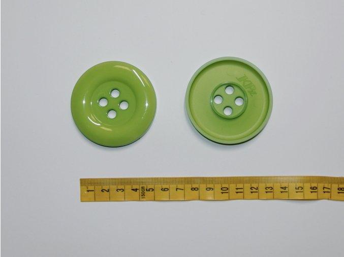 Knoflík velký zelený 5,8cm