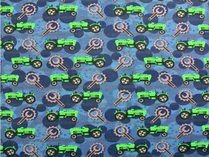 Elastický úplet traktory s nářadím (digitisk)