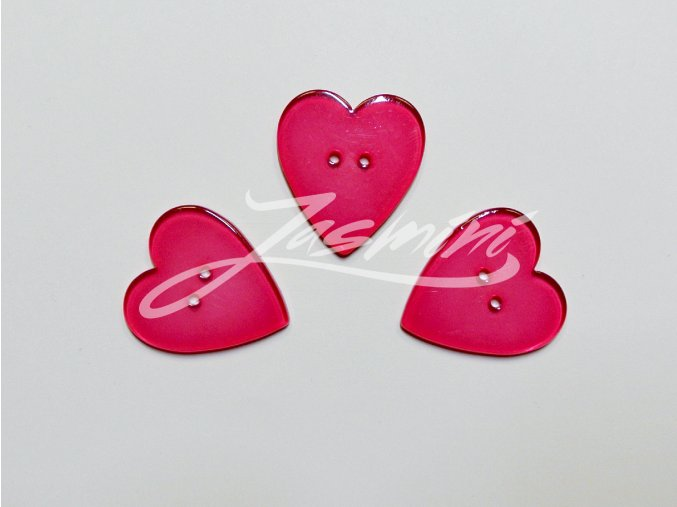 Knoflík srdce růžové