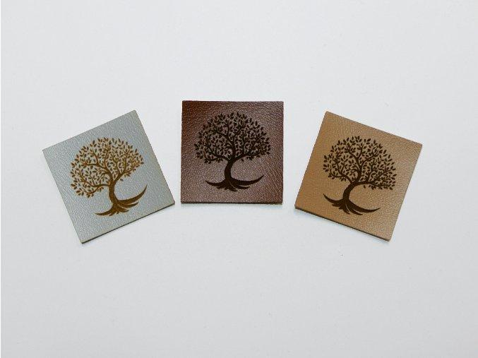 Štítek strom (koženka)