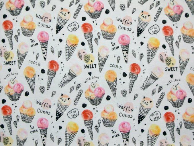 Elastický úplet zmrzliny s kočkami (digitisk)