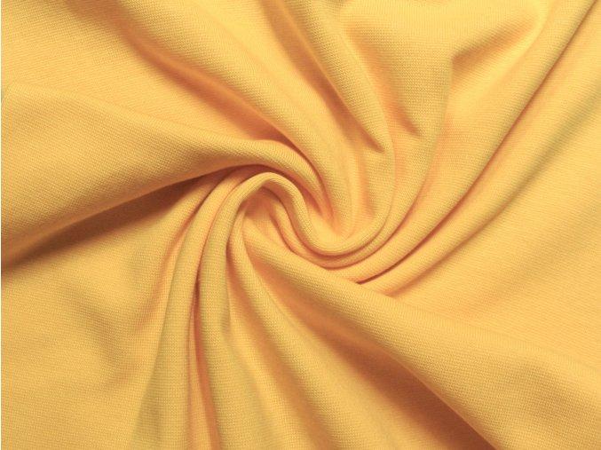 Elastický úplet žlutý 220 g - zbytek S VADOU