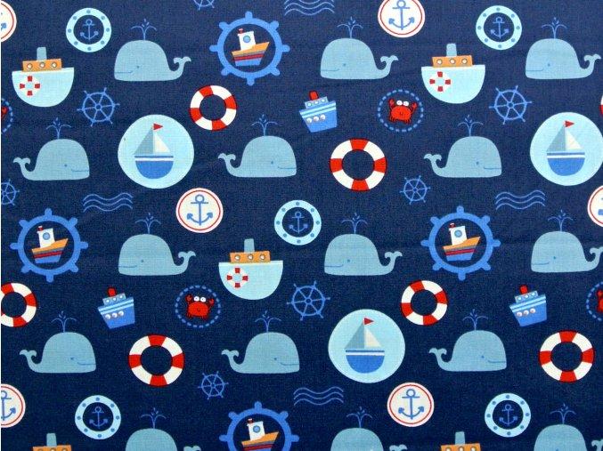 Plátno námořnický vzor