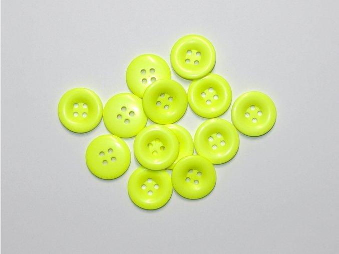 Knoflík neon žlutý 2,3cm