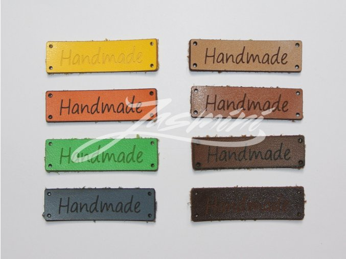 Štítek hand made - různé barvy