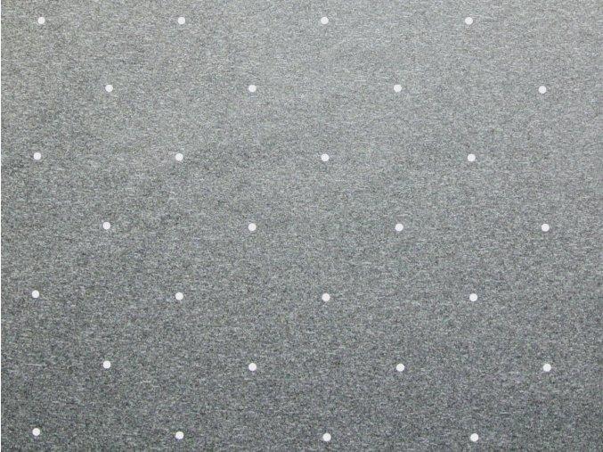 Softshell zimní pružný - černošedý melír s bílými puntíky