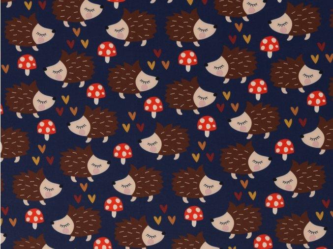 Softshell zimní NANO - ježci na tmavě modré