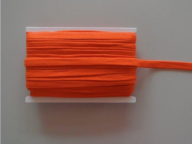 Šňůrka plochá 17mm oranžová