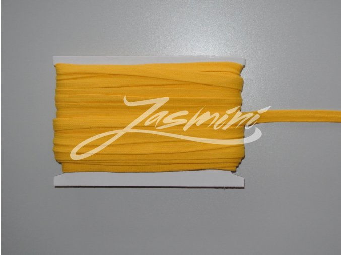 Šňůrka plochá 17mm žlutá