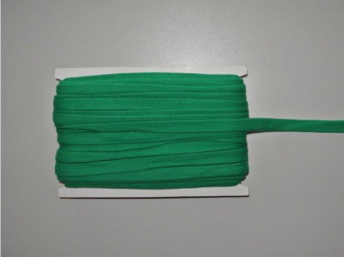 Šňůrka plochá 17mm tmavě zelená