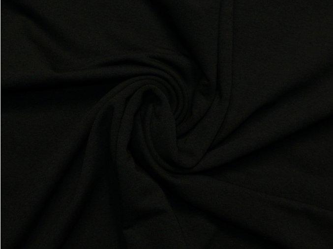 Elastická teplákovina černá 240g